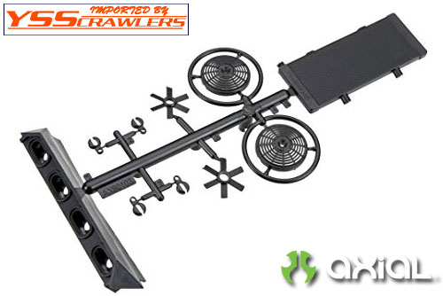 Axial EXO Rear Light Bezel and Radiator Set