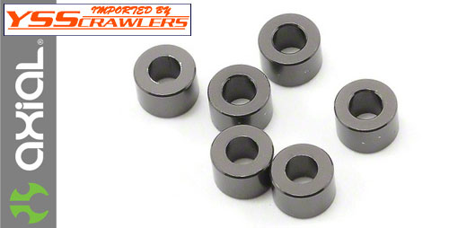 Axial 4x6mm Spacer (Grey)