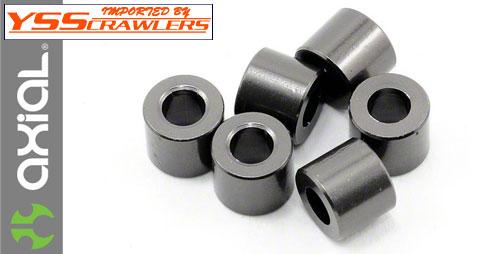 Axial 5x3x6mm スペーサ Gray (6pcs) [AXA1417]