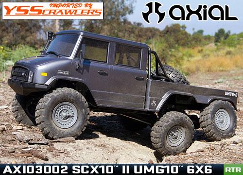 Axial SCX10-II UMG10 6輪駆動 1/10 スケール トラック RTR![AXI03002]