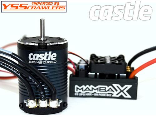 Castle Creations マンバ X ESC + 1900KV センサー付きブラシレスモーター!クローラーエディション!