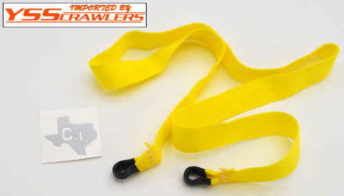 CrawlerInnovations Scale Tow Straps [Yellow]