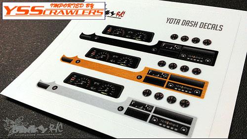DinkyRC Yota[ヨタ] ダッシュボード デカールセット for Yota インテリア