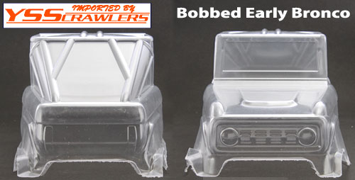 DC Bobbed Early Bronco Body for Wraith [Clear]