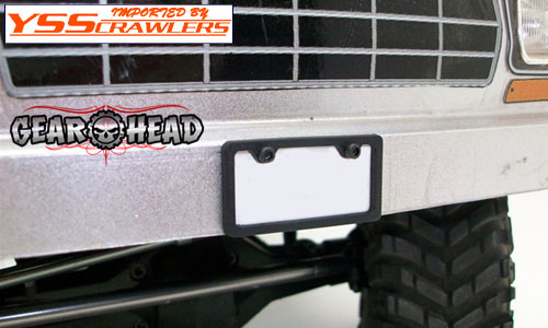 Gear Head RC 1/10 Licewnse Plate Frame [Style No1]