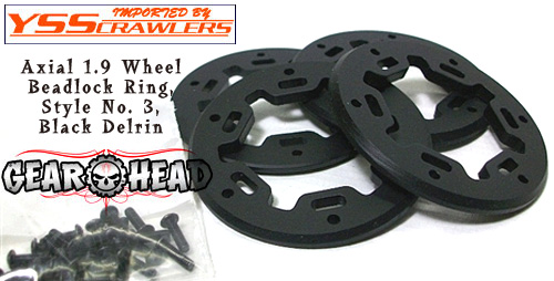 GearHead RC Beadring Style No1 for Axial 1.9 Wheels! [Black]
