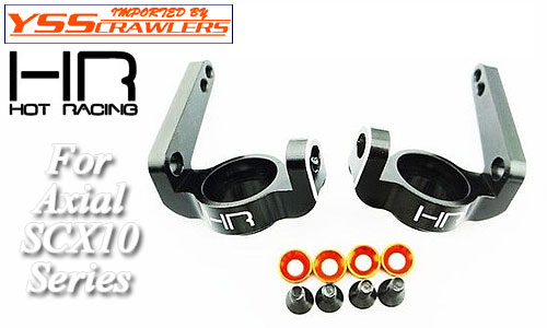 Hot Racing Alum Hi Clearance Knuckle for Axial SCX10![Black]