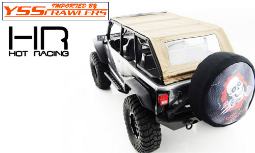 Hot Racing Soft top roof for Axial SCX10 Wrangler Jeep! [Brown]