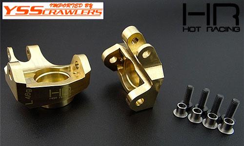 HR HD ブラス ステアリングナックル for Axial SCX10-II AR44
