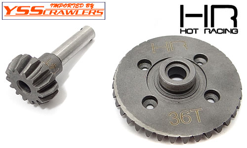 Hot Racing 36T/14T Spiral Diff Bevel Gear set for SCX10, Wraith, Ridge Crest, EXO!