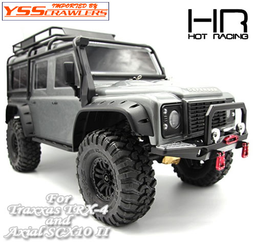 HR アルミ フロント スティンガー バンパー for SCX10-II & TRX-4!