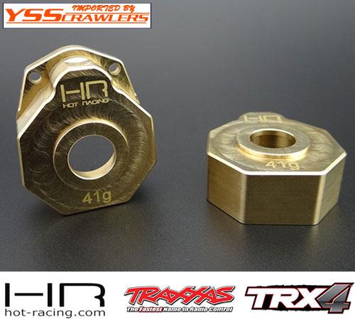 HR ブラス ヘビーメタル ナックル ポータルカバー for Traxxas TRX-4!