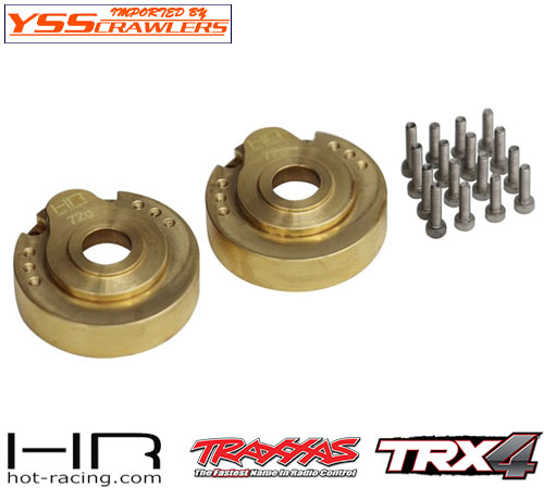 HR 真鍮 モジュラー 72g アウターポータルドライブハウジング for Traxxas TRX-4!