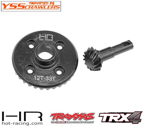 HR スチール ヘリカル デフギア 12/33T for Traxxas TRX-4!