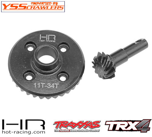 HR Steel Helical Diff Ring/Pinion Overdrive (11/34T) for Traxxas TRX-4!