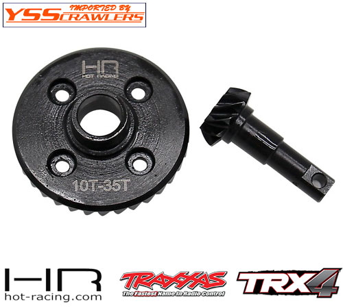 HR スチール ヘリカル デフギア 10/35T for Traxxas TRX-4!