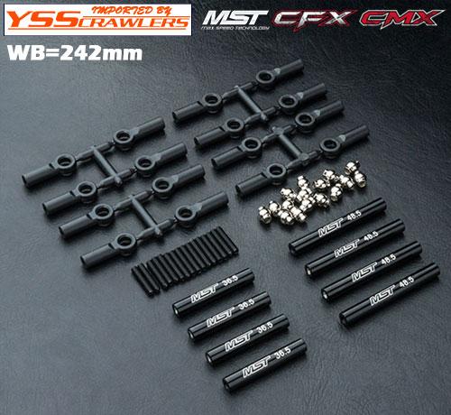 YSS アルミリンクセット 242㎜ ブラック for MST CMX CFX!