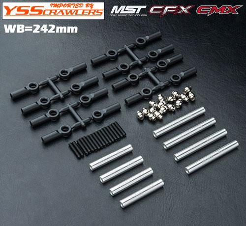 YSS アルミリンクセット 242㎜ シルバー for MST CMX CFX!