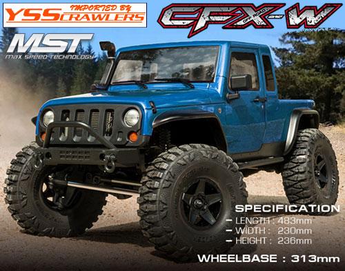 YSS MST CFX-W ジープ JP1 4WD クローラー[ブルー][RTR]