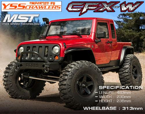 YSS MST CFX-W ジープ JP1 4WD クローラー[レッド][RTR]