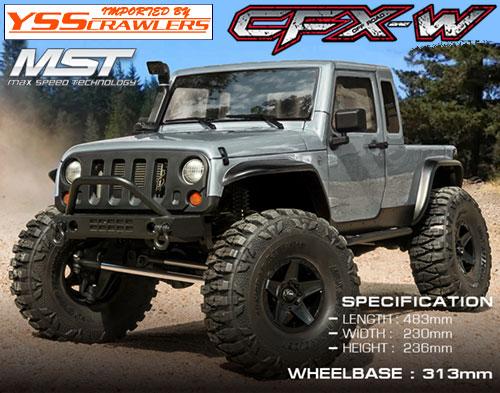 YSS MST CFX-W ジープ JP1 4WD クローラー[シルバー][RTR]