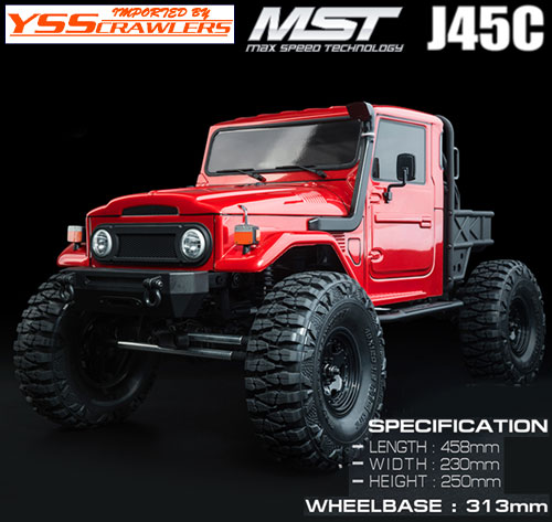 YSS MST CFX-W ランクル J45C 4WD オフロード・クローラー RTR![レッド][予約]