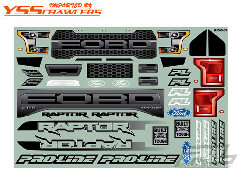 Proline 2017 Ford F-150 Raptor Clear Body