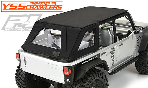 Proline Racing TimberLine Soft-Top (Black) for Axial SCX10 Jeep Wrangler Unlimited Rubicon Cage [Black]