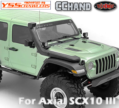 RC4WD スノーケル for Axial SCX10-III ジープ JLU!