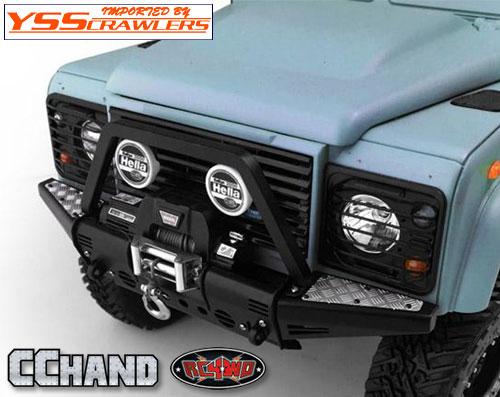 RC4WD フロントチューブフレームバンパー / ステアリングガード / HELLA for Defender D90/D110