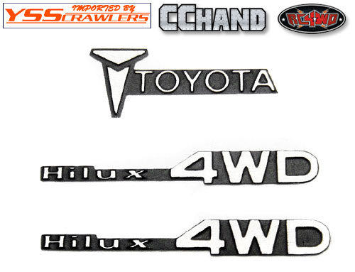 RC4WD 1/10 メタルエンブレムセット - TOYOTA - HILUX 4WD -