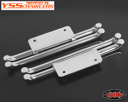 RC4WD Steel Tube Side Steps for Tamiya Hilux & Bruiser (Silver)