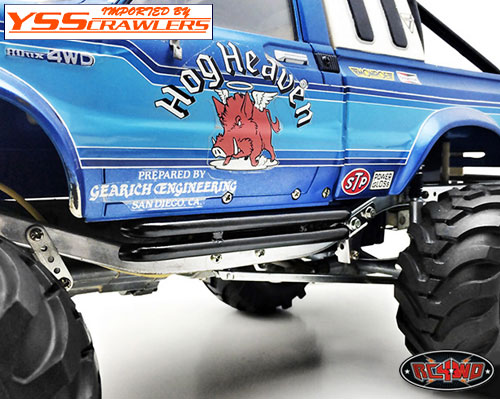 RC4WD スチールチューブサイドステップ for Tamiya Bruiser [ブラック]