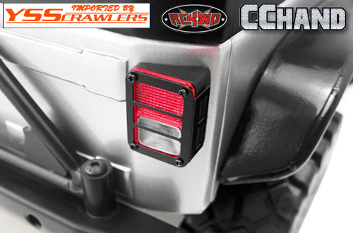 RC4WD Colored Functional Rear Taillight w/Grid Frame for Axial SCX10 Jeep Wrangler!
