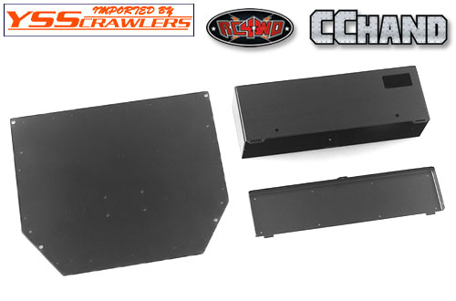 RC4WD Rear Tube Bed for Trail Finder 2 w/Mud Flaps & Lights (Black)