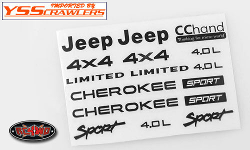 RC4WD メタル エンブレム - JEEP XJ ロゴ セット - [ブラック]