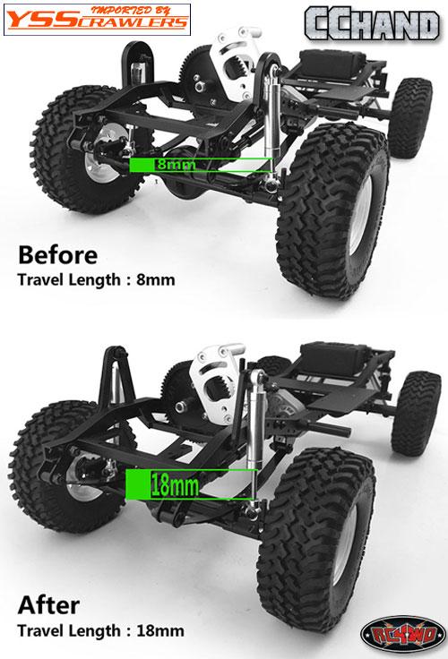 RC4WD エクステンド フロントショックマウント for トレールファインダー2!