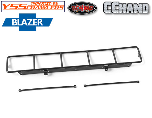 RC4WD Roof Rack, Rollbar, Light Bar Combo for RC4WD Chevy Blazer Body (Black)