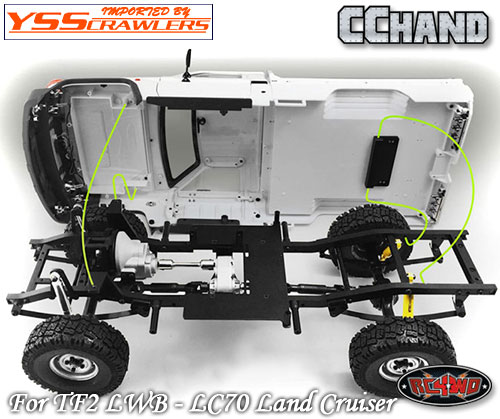 RC4WD トヨタ LC70 ボディーマウントセット for TF2 LWB
