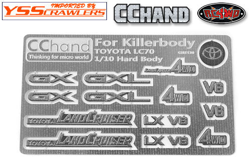 RC4WD Metal Emblems for Toyota Killerbody LC70! [Metal]