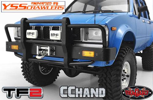 RC4WD カンガルー フロント ウィンチバンパー ライト付 for ハイラックス[ブラック]