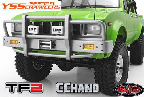 RC4WD カンガルー フロント ウィンチバンパー ライト付 for ハイラックス[シルバー]