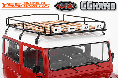 RC4WD ウッド ルーフラック for G2 ランクルFJ40![IPFフォグ付]