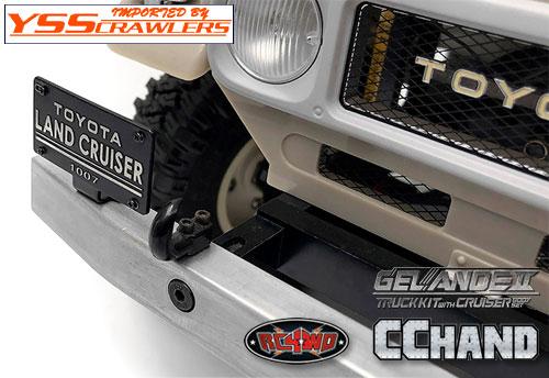 RC4WD フロントナンバープレートホルダー For FJ40 ランクル!