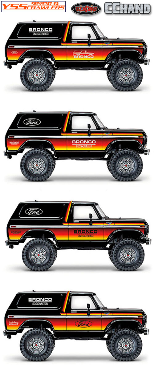 RC4WD Body Decals for Traxxas TRX-4 '79 Bronco Ranger XLT (Style A)