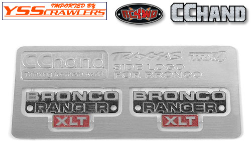 RC4WD サイド メタルエンブレム for Traxxas TRX-4![BRONCO]