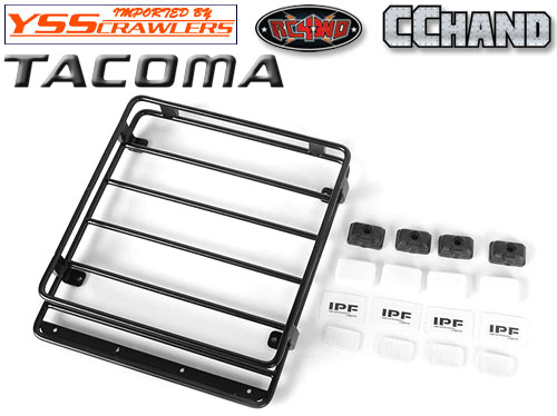 RC4WD Steel Roof Rack w/ IPF Lights for Toyota Tacoma!