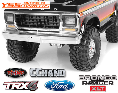 RC4WD アルミフロントバンパー for Traxxas TRX-4![BRONCO]