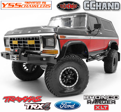 RC4WD Front Winch Bumper W/LED Lights for Traxxas TRX-4 '79 Bronco Ranger XLT
