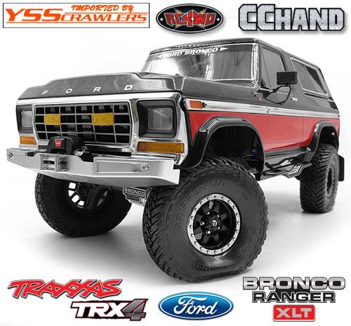 RC4WD フロント ウィンチバンパー LED付 for TRX-4![BRONCO][シルバー]
